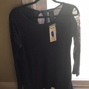 Premise Purple Tunic Top w/Lace BNWT Med